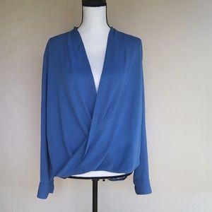 New, NY & Company Classy Blue Dress Blouse